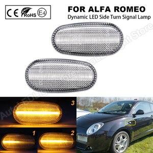 Image 1 - 2Pc Dynamic LED indicatore di direzione laterale freccia indicatore di direzione lampeggiante lampada per Alfa Romeo Mito per Alfa Romeo Mito 147 GT Fiat Bravo 198