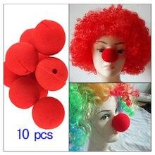 10 pçs grandes esponjas vermelho esponja bolas nariz palhaço engraçado cosplay adereços magia adereços palhaço nariz truques brinquedo desempenho adereços dropship