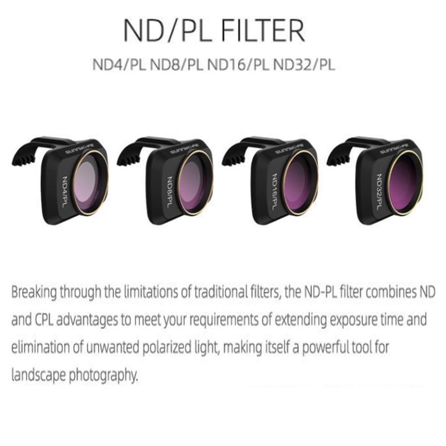 Camera Drone ND PL Filters for DJI Mavic Mini ND4 PL ND8 PL ND16 PL ND32 PL Polarizer Lens Filter Set for Mavic Mini