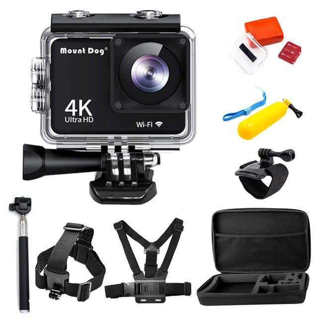 MountDog Sports Action camera Ultra HD 4K Waterproof Sports Cam Remote Control Video Cam corder DVR Camera Underwater Action Cam