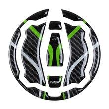 For kawasaki z900 motorcycle sports car fasp genuine carbon fiber Key pad Fuel tank cap  sticker