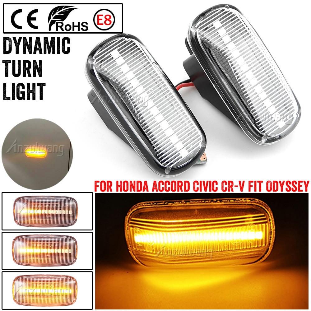 2X Led dinámica indicador lateral de señal de vuelta de luz lámpara para Honda Accord Coupe cívica EG3 S2000 AP1 Integra Tipo R NSX NA1 lado Repe