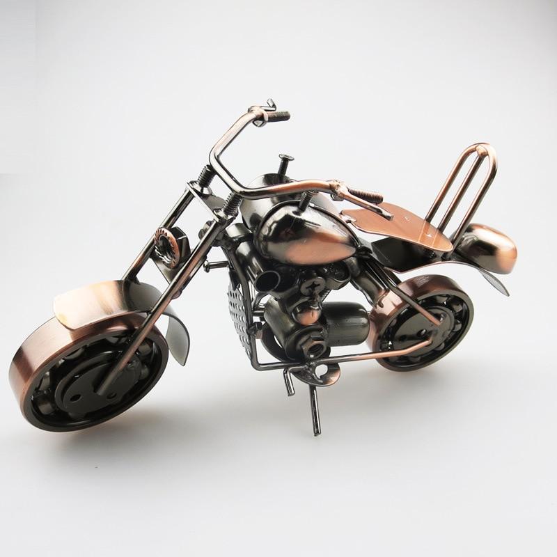 27x12x19cm grand fer moto modèle galvanisé métal artisanat moto moteur chaud Auto vitesse roues enfants garçons jouet cadeau