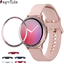 Pierścień bezel do Samsung Galaxy Watch aktywny 2 40mm 44mm protector skrzynki pokrywa Sport klej metalowy zderzak akcesoria active2 40 tanie tanio fegwilde STAINLESS STEEL CN (pochodzenie) Etui na zegarek for samsung active 2