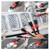 Waxing Sponge Car Detailing Brush Kit Boar Hair Vehicle Auto Engine Wheel Clean Brushes Car Wash Accessories 3