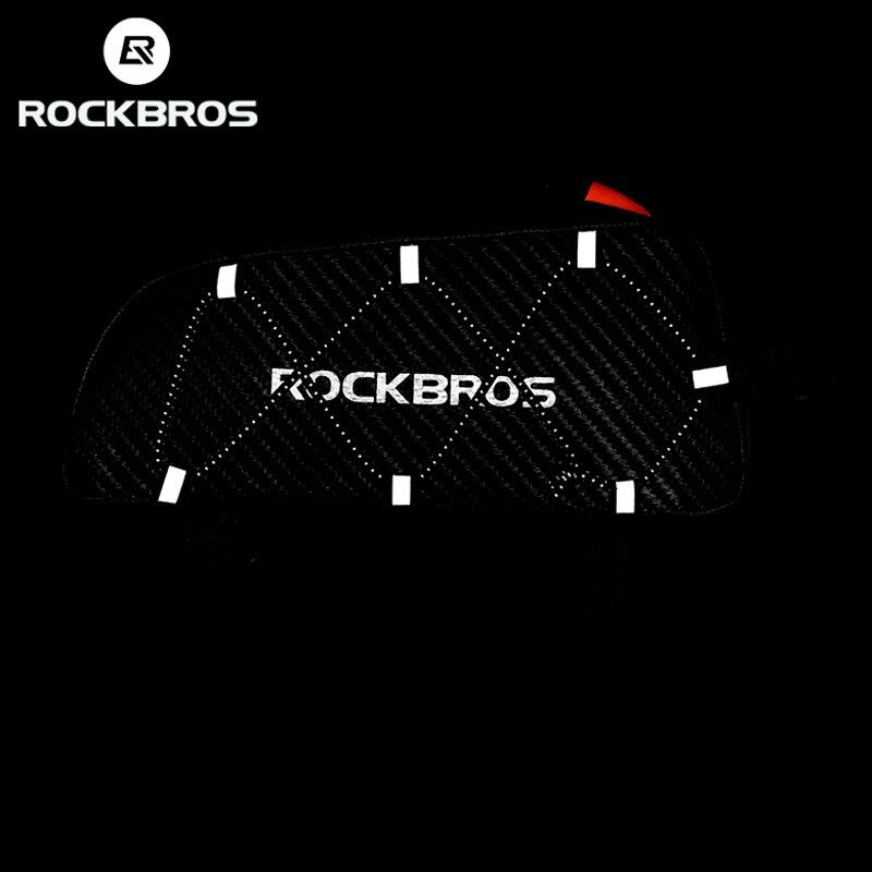 ROCKBROS велосипедная сумка Светоотражающая Передняя верхняя рама труба сумка Сверхлегкая переносная велосипедная посылка большая емкость ка...