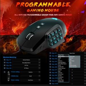 Image 5 - Rocketek usb rgb 有線ゲーミングマウス 24000 dpi 16 ボタンレーザープログラマブルゲームマウスバックライト人間工学ラップトップ pc のコンピュータ
