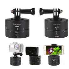 Buy Go Motion Tripod Head Photography Delay Tilt Head 60 120 min Time Lapse Timer For Gopro7 6 5 DJI OSMO Action Camera Accessories directly from merchant!
