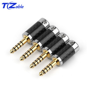 Image 5 - 1PCS Audio Connector 4.4mm 5 Pole Stereo Connectors Earphone Male Plug Headphone Jack Solder Cable Metal Splice Adapter
