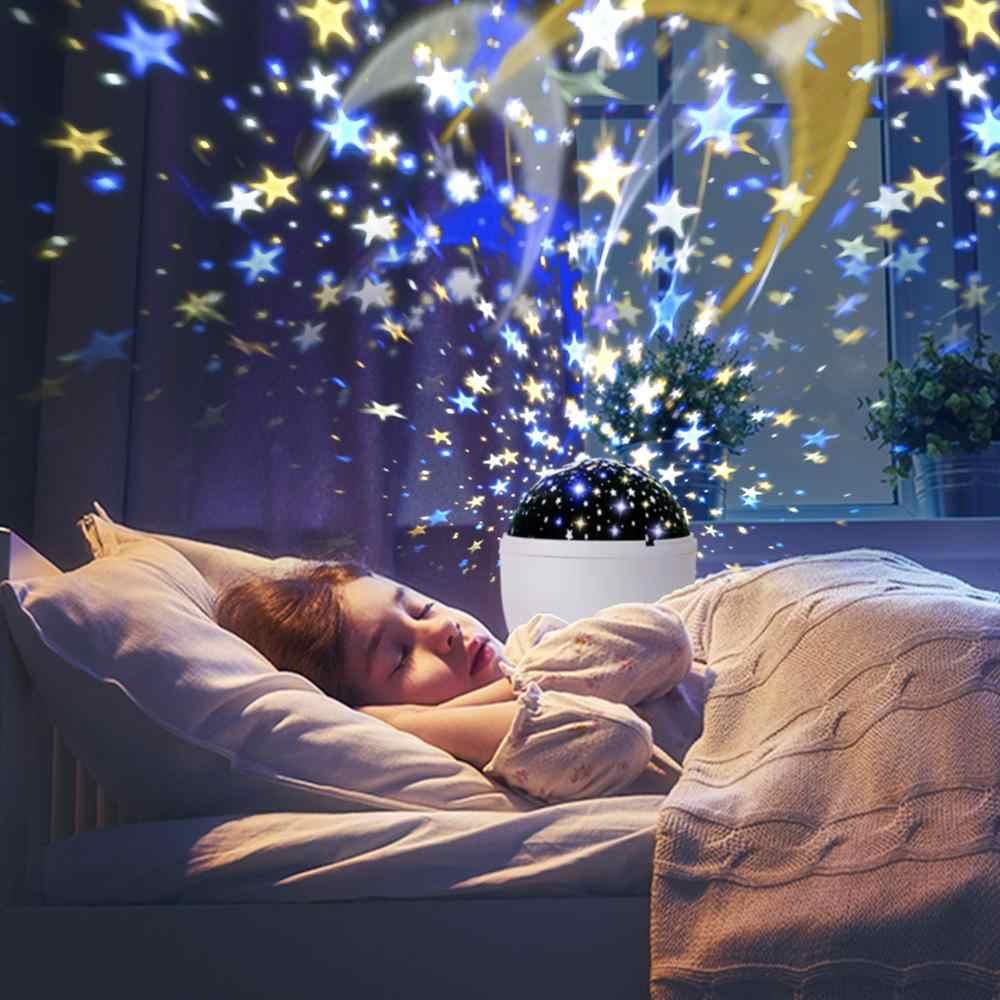 별이 빛나는 하늘 프로젝터 LED 프로젝터 스타 문 밤 빛 생일 선물 야간 조명 어린이위한 어린이 아기 침실 장식
