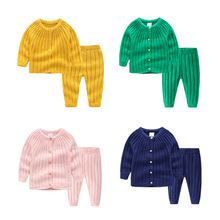Autumn And Winter New Knit Suit Baby Boys&girls Warm Out Clothing Knitted Sweaters Childrens For Newborn