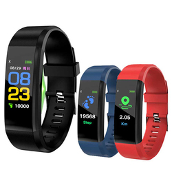 115Plus Smart Band Heart Rate Blood Pressure Monitor 115 Plus Smart Watch Fitness Tracker Smartband Wristband for IOS Android