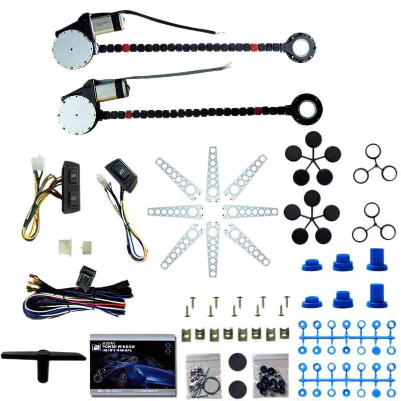 Window Starter Kit Universal 12 V 2-Door Window Lifter Electric Window 3 Box Switch For Car Truck SUV Van