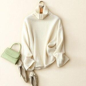 Зима 2020, Новое поступление, мягкий женский свитер с высоким воротником из 100% кашемира