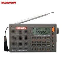 Radiwow R 108デジタルポータブルラジオステレオfm/lw/sw/mw/空気/のdsp液晶/高品質音アラーム機能屋内屋外