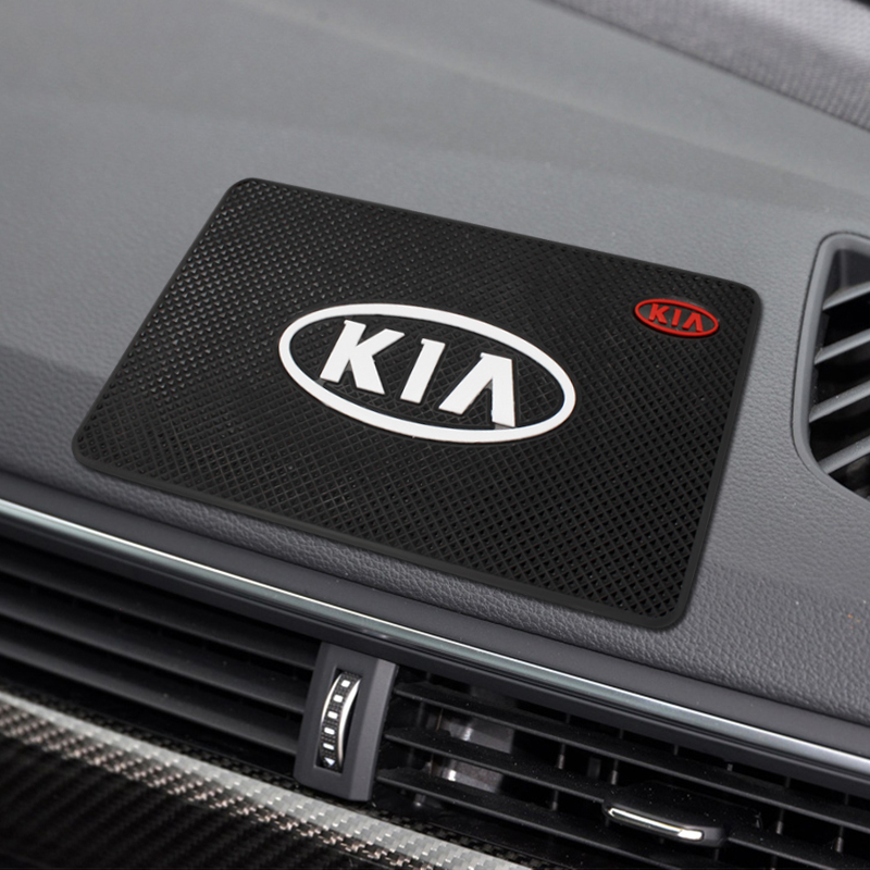 Car Mat Auto Interior Dashboard Phone Coin Gel Pads Fixed Gel Double Sided Car Non-slip Mat For KIA Cerato Sportage R K2 K3 K5