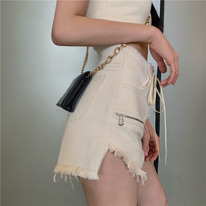 Summer Women 2pcs Set Sexy Halter Open Back Knitted Short Tops + Drawstring Tassel Denim Shorts Party Beach Two Piece Set Suit