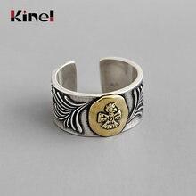 Kinel Новинка 100% реальное искусственное серебряное кольцо