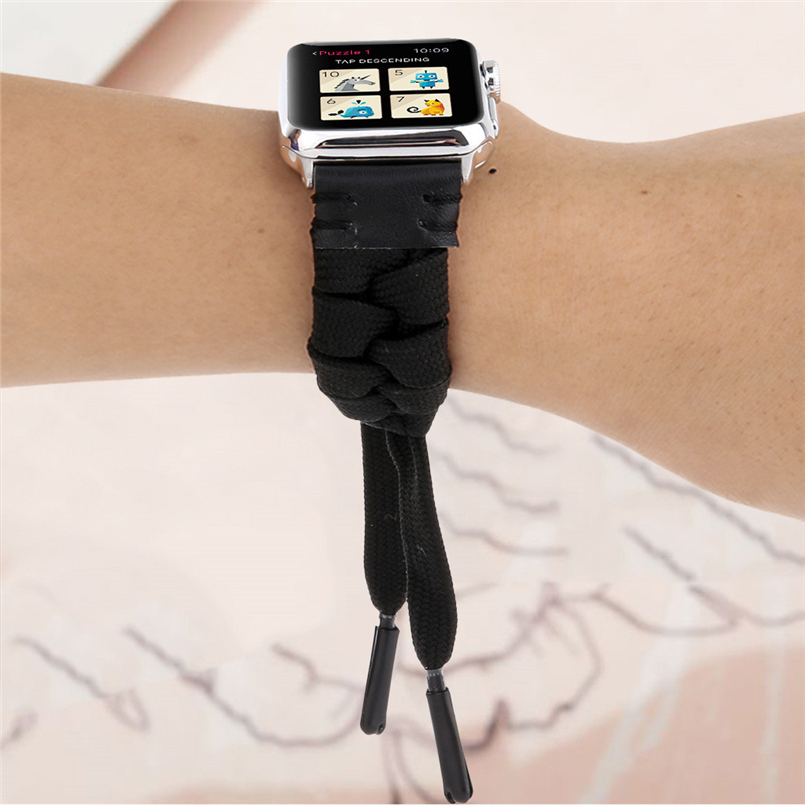 Woven mesh strap with high quality soft sports strap advanced woven strap replacement strap for apple watch 40mm 20O17 (6)