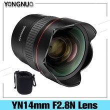 YONGNUO 14mm F2.8 Ultra-grand Angle objectif Prime YN14mm mise au point automatique AF MF monture métallique objectif pour Canon 700D 80D Nikon D7100 D5300