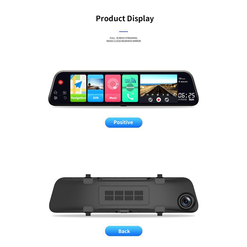 12 Inch Android 8.1 Adas Dash Cam Car Dvrs Camera Gps Navi Bluetooth Fhd Video Recorder 4G Wifi Dvr Mirror - 6