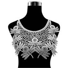 Elegant White Black 3d Flowers Lace Corsage Collar Trim Embroidery Decor Applique Dress Guipure Fabric DIY Sewing Supplies