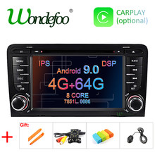 Ips dsp 4g 64g android 9.0 carro dvd gps para audi a3 8 p 2003-2012 s3 2006-2012 rs3 sportback 2011 multimídia player rádio estéreo(China)