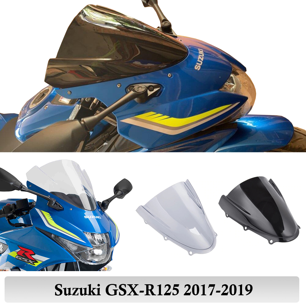 GSXR125 Windshield Windscreen Protector For Suzuki GSX-R125 GSXR 125 2017 2018 2019 Double BUbble Touring Racing Moto Flyscreen