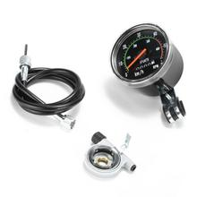Vintage Style Bicycle Bike Speedometer Analog Mechanical Odometer With Hardware General for Bicycles Machine