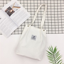 Women Mini Corduroy Shoulder Shopping Bag Tote Package Cross Body Bags Purse Ladies Handbag Bookbags
