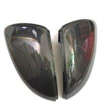 Bodenla real fibra de carbono espelho lateral caso espelho retrovisor capa para vw golf 7 mk7