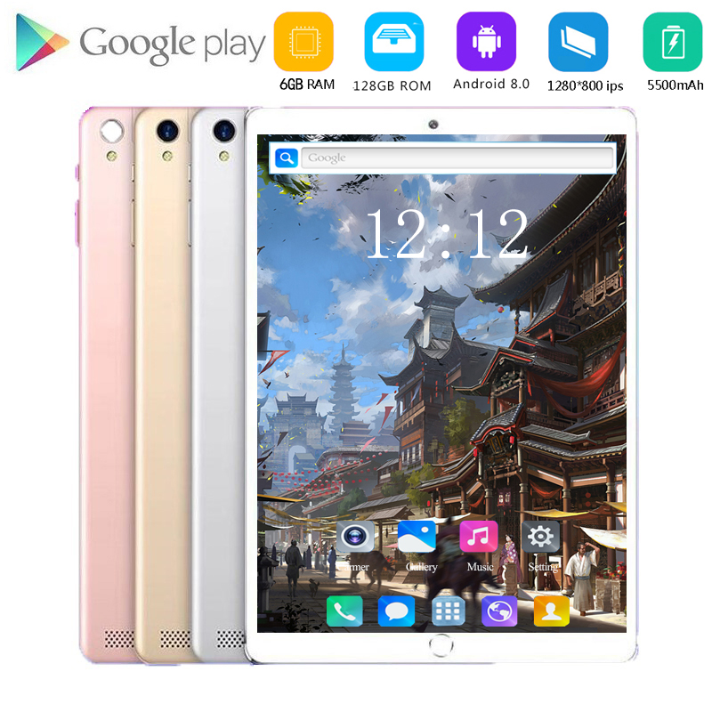 2020 Multi-touch Glass Screen Octa Core 4G FDD LTE Tablet 6GB RAM 64 128GB ROM Dual Cameras Android 8.0 Tablet 10 Inch Pocket PC