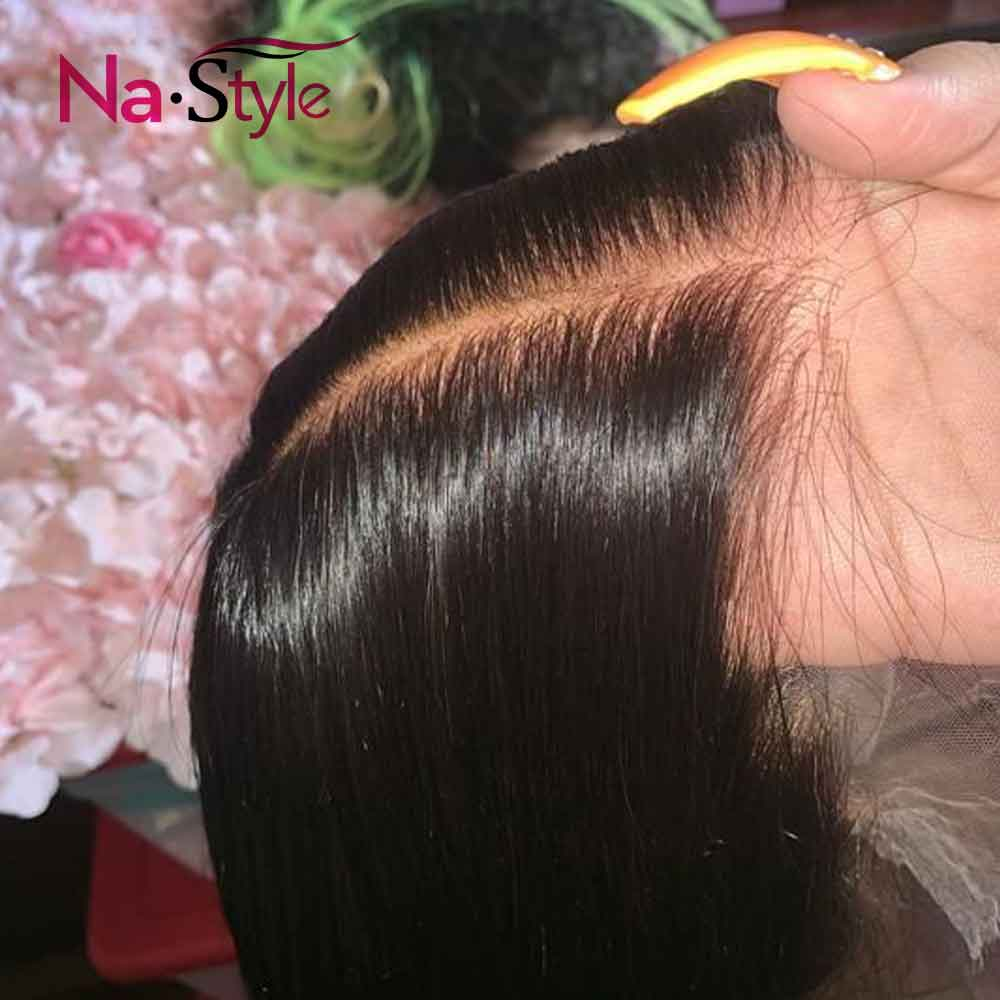 Pre Plucked Full Lace Human Hair Wigs Pre Plucked Bleached Knots Wigs Transparent Lace Wigs Straight Glueless Full Lace Wigs - 1