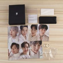 Kpop Bangtan Boys srebrna płyta pierścienie z plakatem karty LOMO biżuteria pierścionki akcesoria dla kobiet mężczyzn biżuteria tanie tanio BTS-ring 8 lat