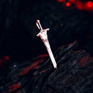Image 3 - [Fate Apocrypha] Anime naszyjnik FA FGO 925 srebro biżuteria Sterling Manga rola Mordred czerwony z Saber Cosplay figurka prezent
