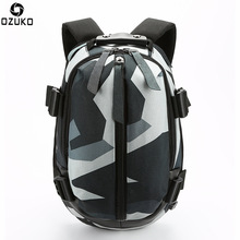 OZUKO Fashion Backpack Men USB Charging School Bag Oxford Waterproof for Teenagers 15.6 Laptop Backpacks Male Mochila