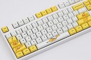 Image 2 - Клавиатура Pikachu XDA, колпачки для клавиш PBT, краситель для переключателей Cherry MX 61 84 87 96 108 XD60 XD64 GK61 GK64 GH60, механическая покерная клавиатура