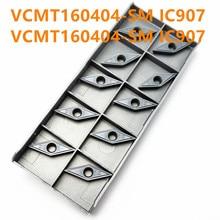 VCMT160404 SM IC907 / 908 External Round Car Blade Carbide Insert Lathe Tool VCMT 160404 CVD + PVD Turning