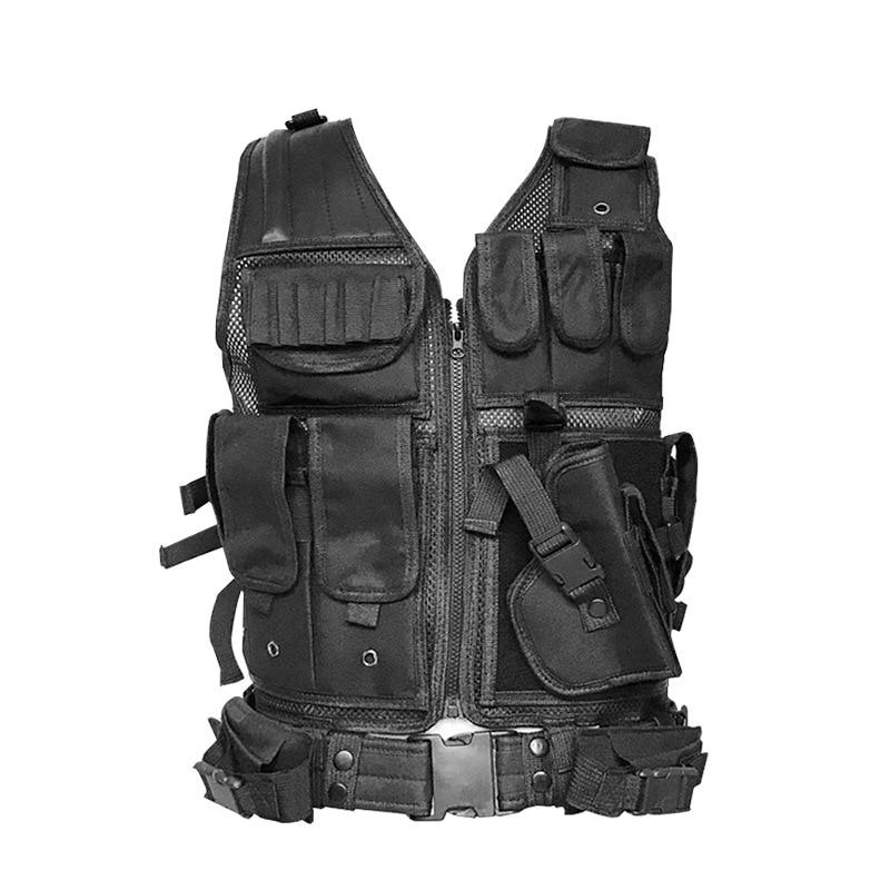 Tactical Vest Military Mesh Pockets Vests Men's Tactical Hunting Vest Army Adjustable Armor Outdoor CS Training Vest Airsoft