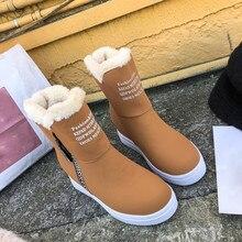 KANCOOLD/женские ботинки; теплые зимние ботинки на меху; модная женская обувь; ботильоны на платформе; водонепроницаемые зимние ботинки; нескользящая женская обувь