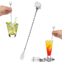 Spoon Stirrer-Bar-Spoon Mixing-Fork Kitchen-Tools Swizzle-Sticks Cocktail-Pick Bartender