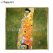 High Quality Famous Painting Hand-Painted Elegant Women Oil Painting on Canvas for Room Decor Gustav Klimt Imitation Painting накладка на кнопку зажигания разные цвета для jeep сherokee 2015