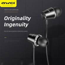 AWEI PC-2 Original Verdrahtete Kopfhörer Mini in Ear Stereo Sound 3,5mm Telefon Earbuds mit 1,2 m Kabel(China)