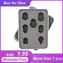 Металлическая коробка для игральных костей стандартного размера, металлическая коробка для игральных костей, 7 шт., D4, D6, D8, D10, D %, D12, D20, Цена з...