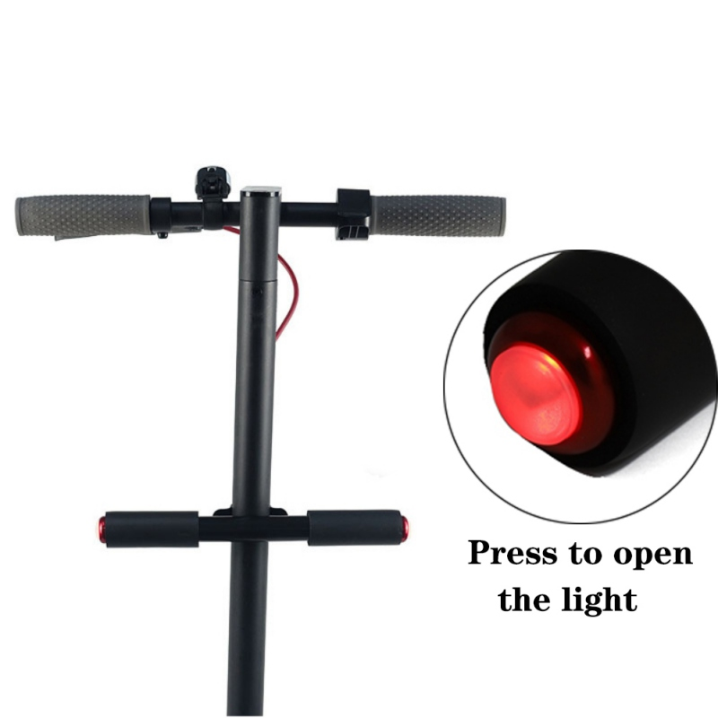 Scooter Grips For Xiaomi Mijia M365 Electric Scooter Skateboard Kids Handle Grip Bar Holder Knob With Safety Warning Light
