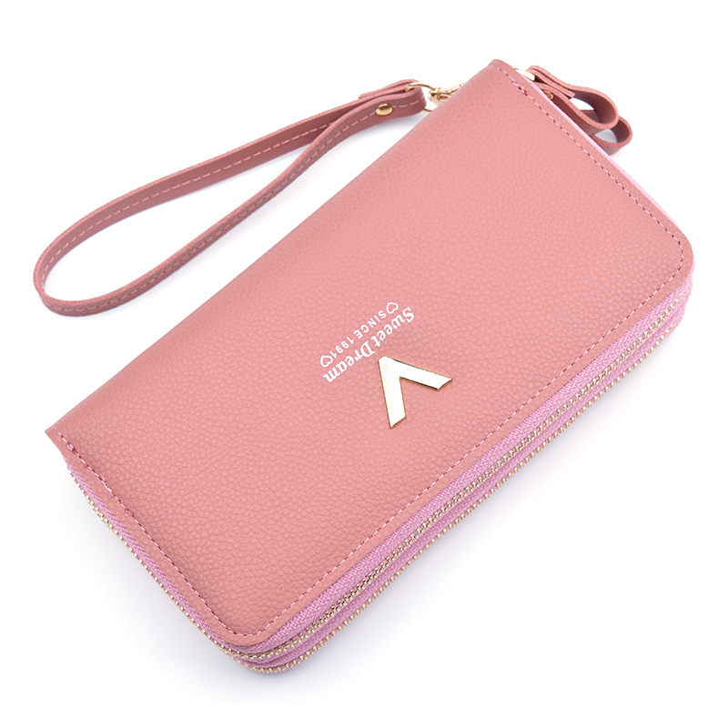 New women's wallet long double zipper large capacity clutch wallet Korean multi-card mobile phone bag