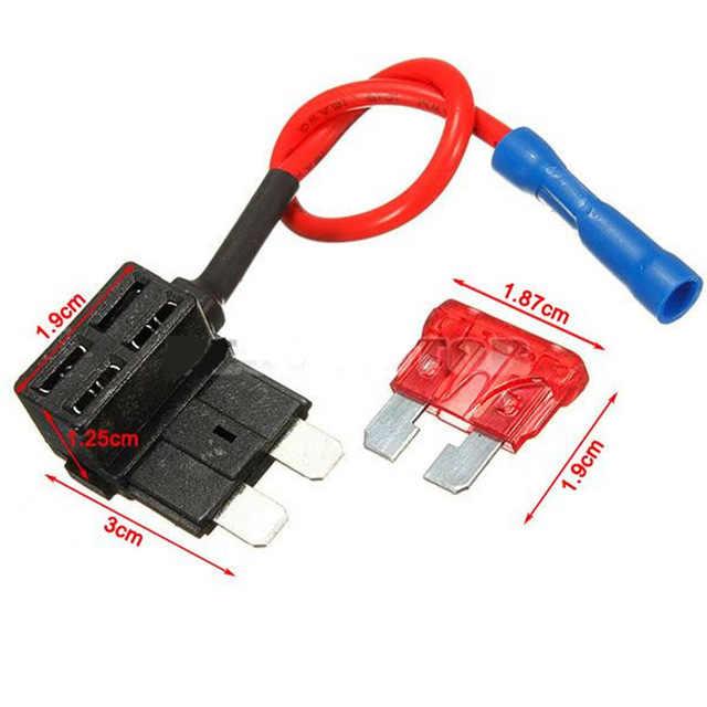 12 V 車のヒューズホルダー追加-a-回路タップアダプタマイクロ/ミニ/標準 ATM APM 刃オートヒューズ 12 V 10A 刃車と融合ホルダー