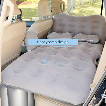 Flocking Car inflatable bed for back seat camping bed Car Travel Bed With head guard Outdoor Camping Mat Cushion Car Accessories