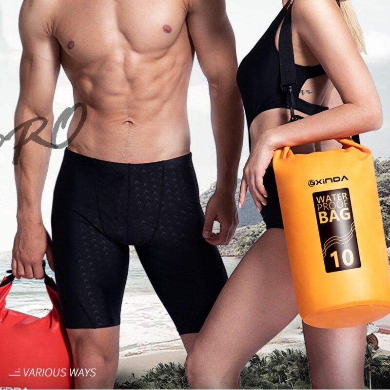 5L 10L Swimming PVC Waterproof Bags Ultralight Swimming Bag Dry 4 Colors Outdoor 500D PVC Mesh Fabric Kayaking River Storage Bag