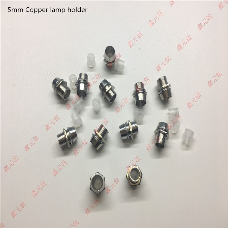 LED Lamp Holder 3mm 5mm 10mm Copper Lamp Holder Plastic  Silver Black Fixed Socket Lamp Bead Protection Seat 100pcs/lot